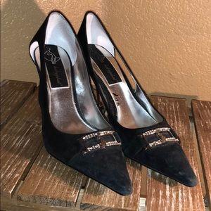 Baby phat heels black size 8 women's